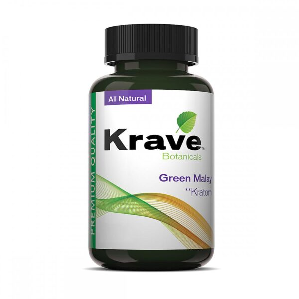 Krave Kratom Green Malay Capsules