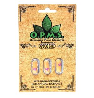 OPMS Gold Kratom Capsules - 3 Pack