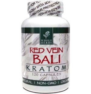Whole Herbs Red Bali Kratom Capsules