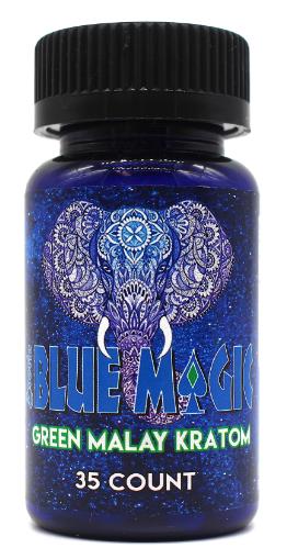Blue Magic Green Malay Kratom Capsules