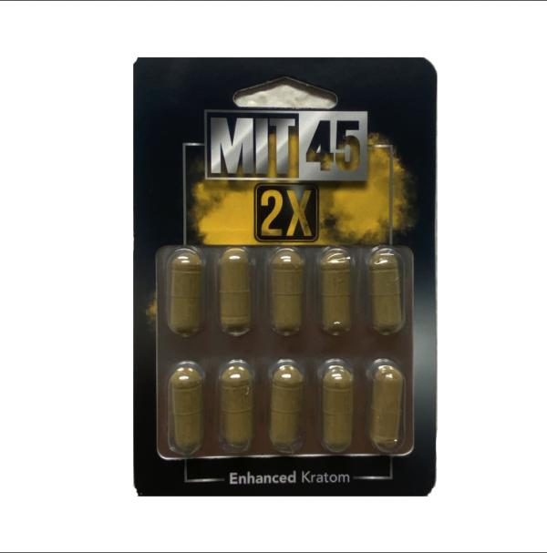 Mit 45 2x Kratom Extract Capsules (10-Pack)