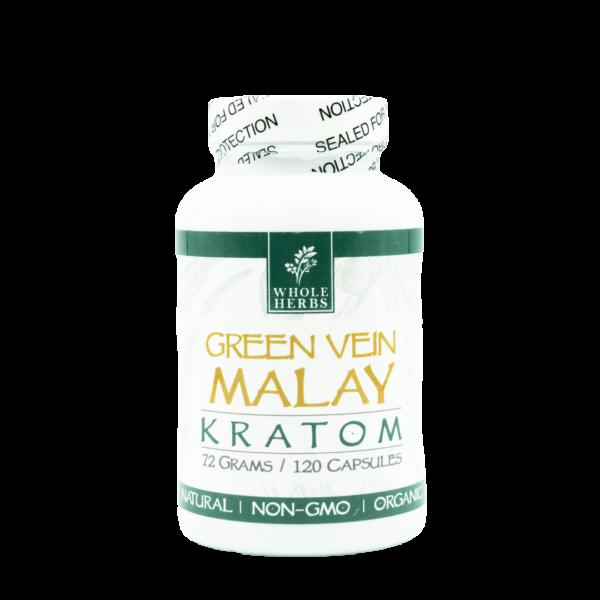 Whole Herbs Green Vein Malay Kratom Capsules