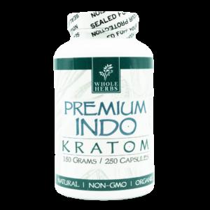 Whole Herbs Premium Indo Kratom Capsules
