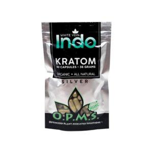 OPMS Silver White Vein Indo Kratom Capsules