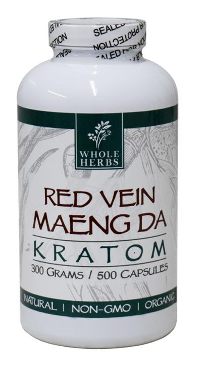Whole Herbs Red Maeng Da Kratom Capsules