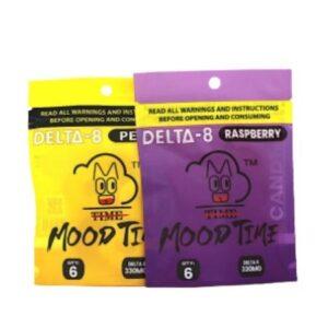 Mood Time Delta 8 Gummies (6PCS, 55MG Per Piece)