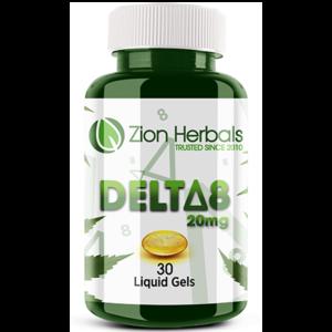 Zion Herbals Delta 8 Liquid Gel Capsules (10CT, 30CT)